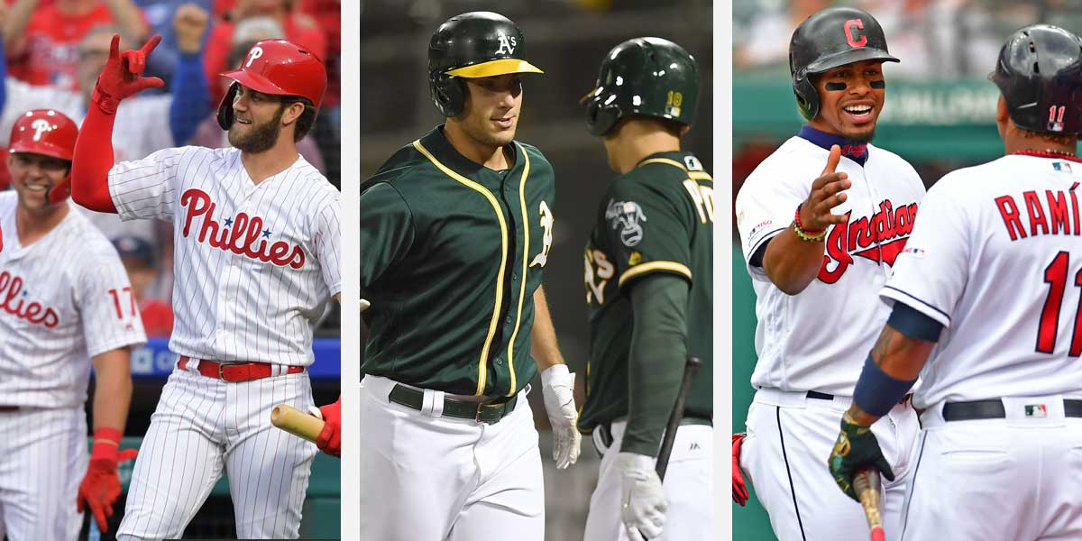 Philadelphia Phillies, Oakland Athletics, Cleveland Indians