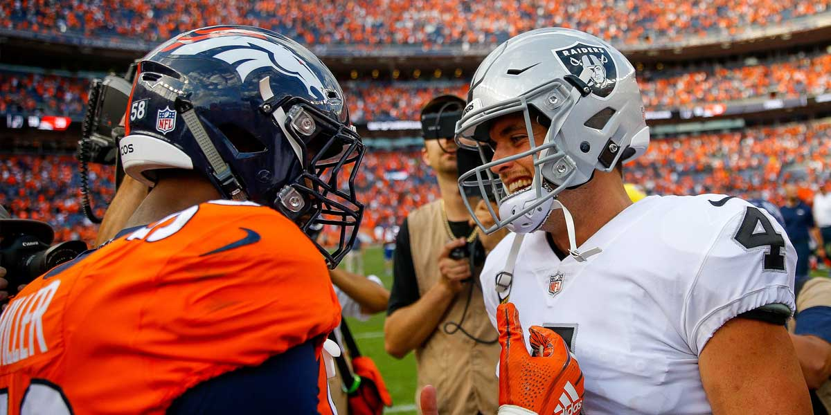 Denver Broncos and Oakland Raiders
