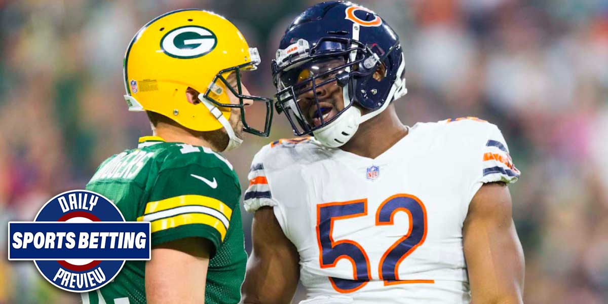 Green Bay Packers versus the Chicago Bears