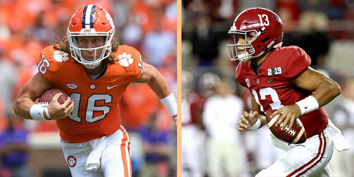 Tua Tagovailoa and Trevor Lawrence