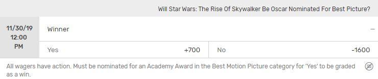 Star Wars Nomination