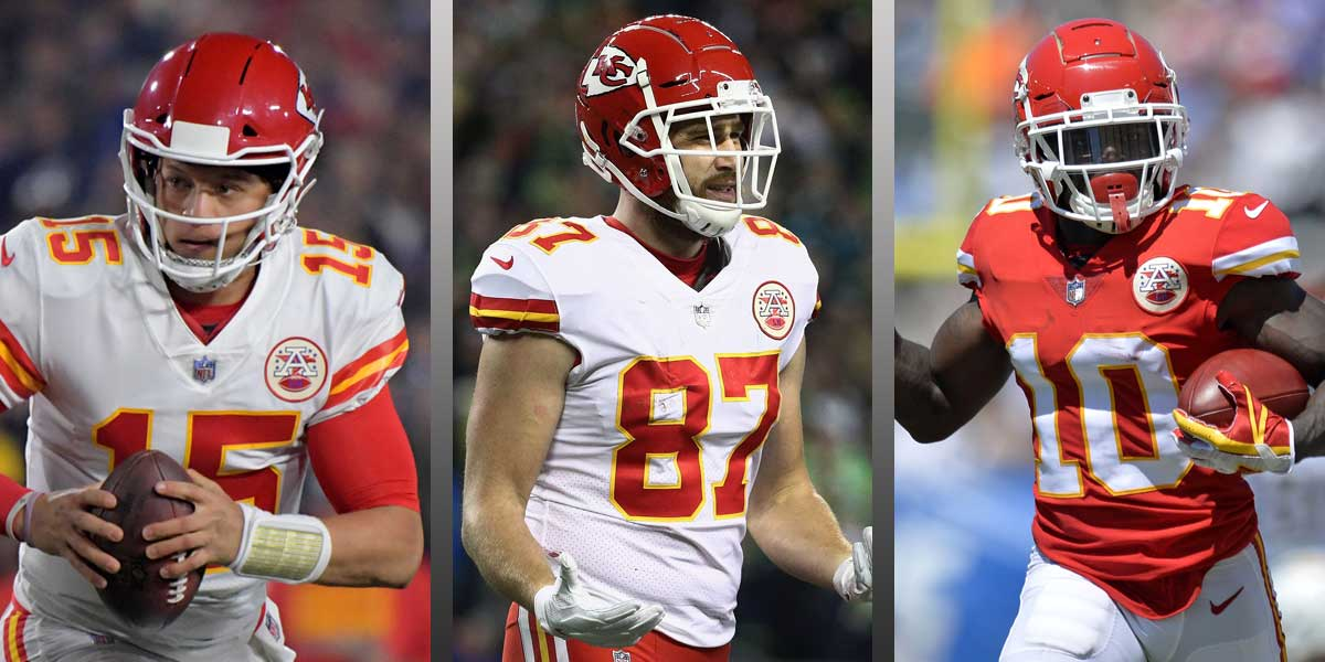 Mahomes, Kelce, Hill