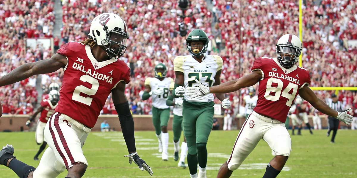Oklahoma Sooners against the Baylor Bears