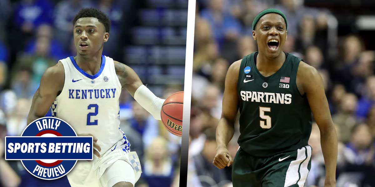 Michigan State Spartans take on the Kentucky Wildcats