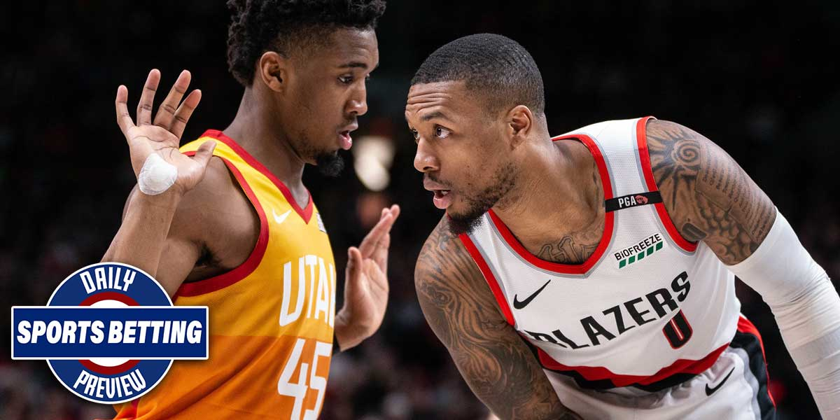 Utah Jazz play the Portland Trail Blazers