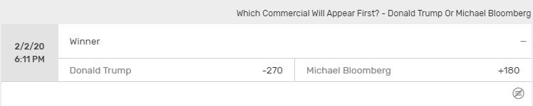 Trump vs Bloomberg air time odds
