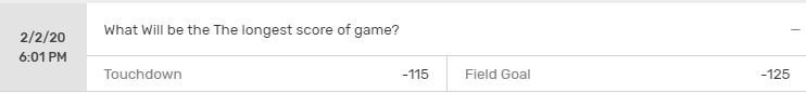 Longest Score Of Game Odds