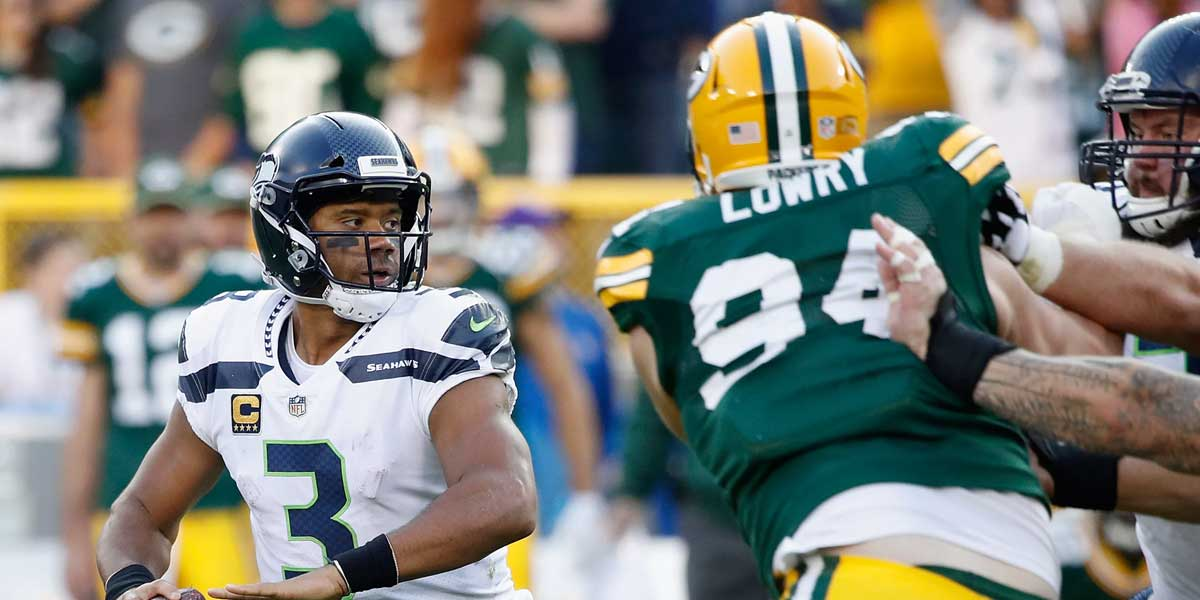 The Green Bay Packers hosts the Seattle Seahawks