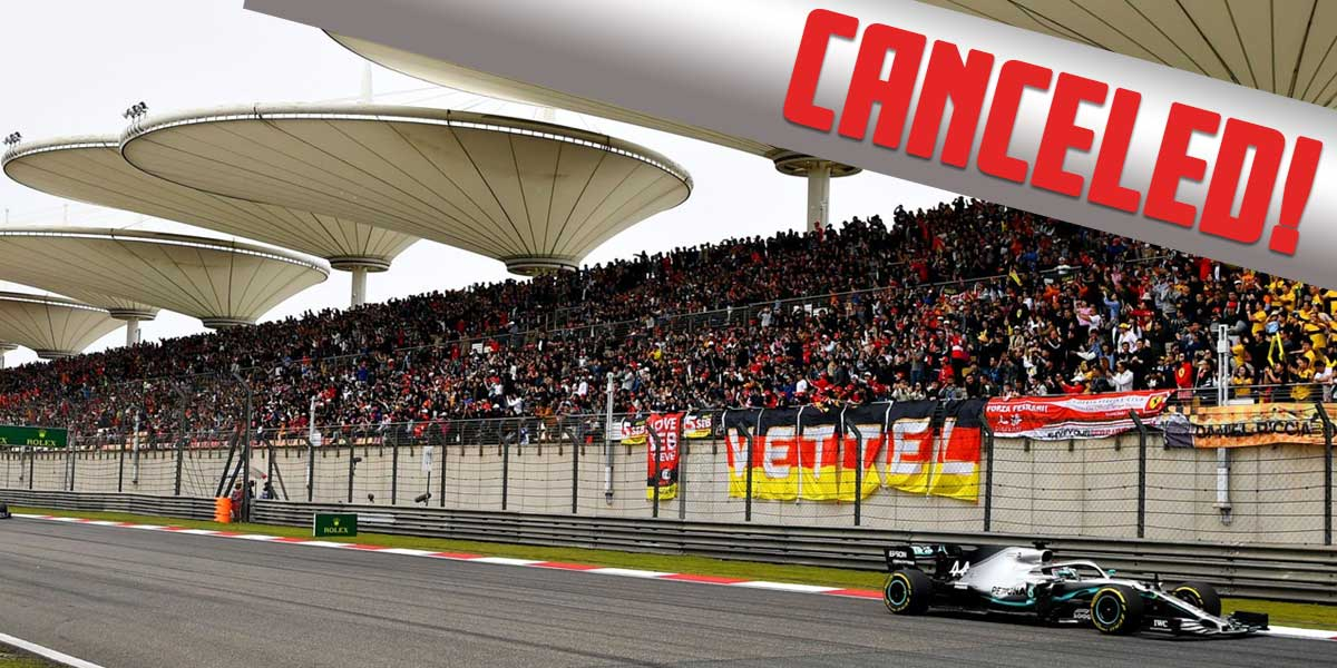 China Gran Prix Canceled
