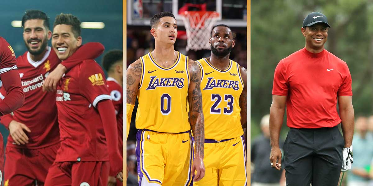 Liverpool FC - L.A. Lakers - Tiger Woods