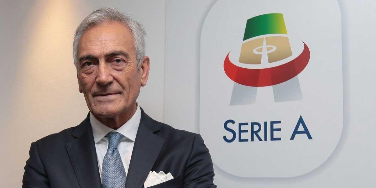Italian FA Cup President Gabriele Gravina