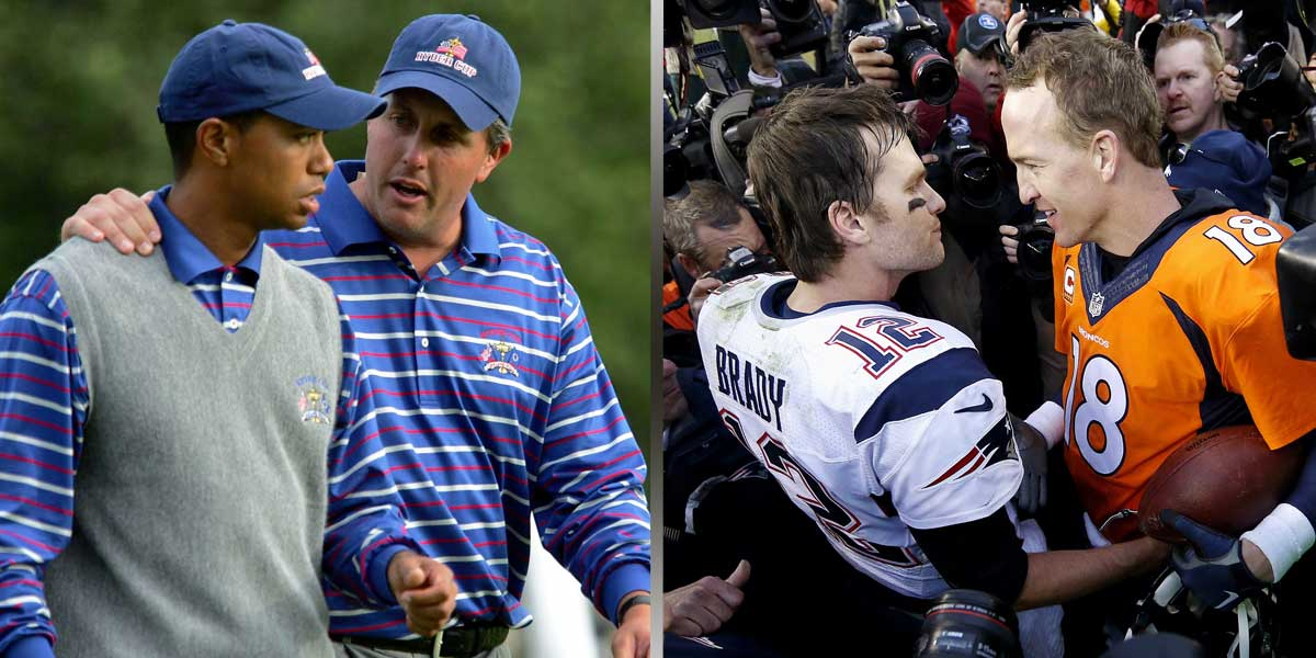 Tiger Woods - Phil Mickelson - Tom Brady - Peyton Manning