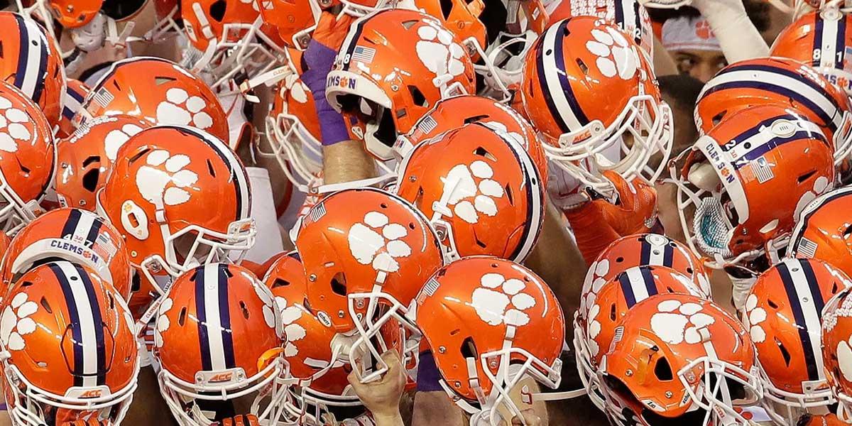Clemson Helmets