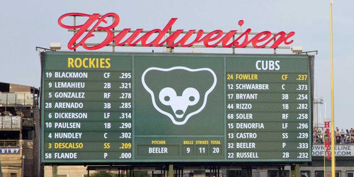 MLB - Cubs Scoreboard
