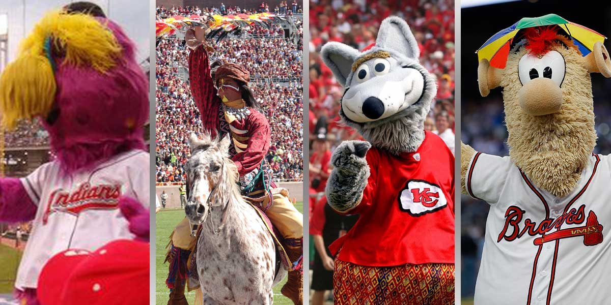 Indians, Seminoles, Chiefs, Braves Mascots