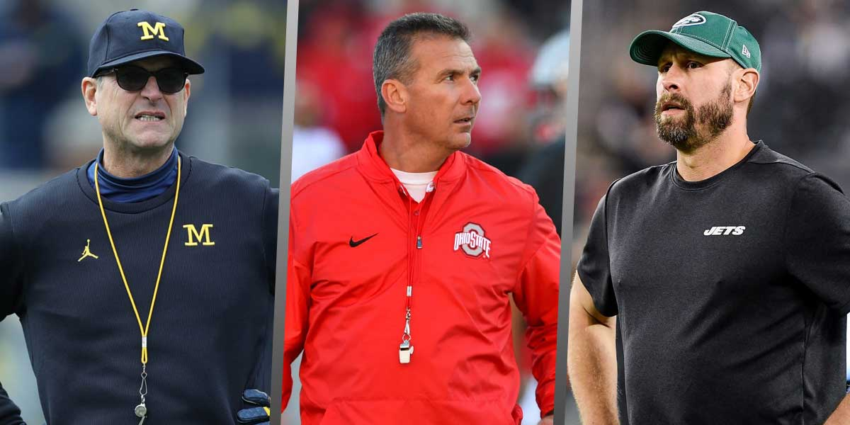 Jim Harbaugh, Urban Meyer, Adam Gase