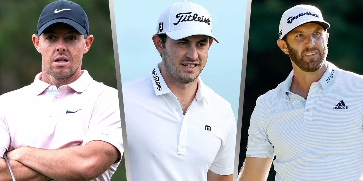 Rory McIlroy, Patrick Cantlay, Dustin Johnson