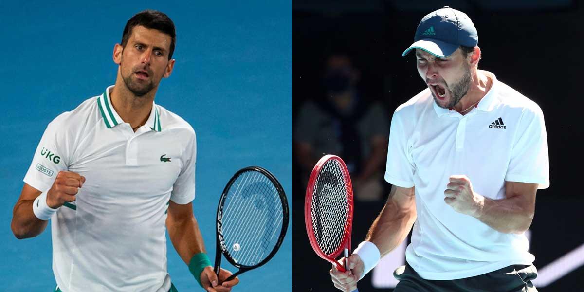 Novak Djokavic vs. Aslan Karatsev
