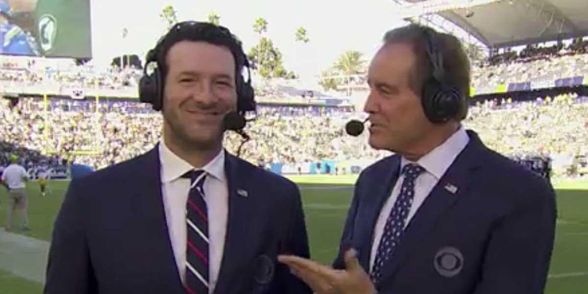 Tony Romo and Jim Nantz