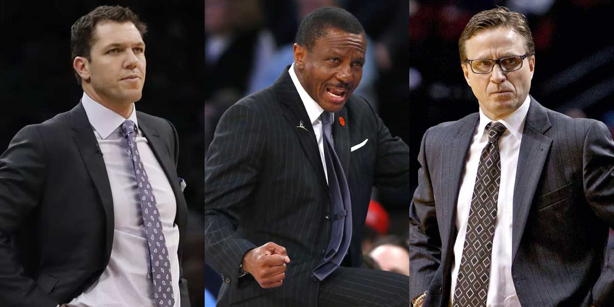 Luke Walton, Dwane Casey, and Scott Brooks