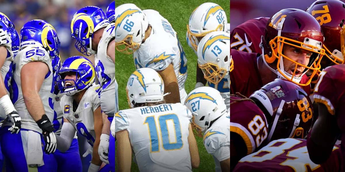 The Rams, Chargers, And WFT All Underdogs To Watch In NFL Week 3